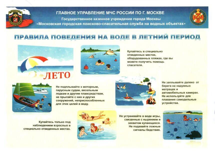МЧС предупреждает — правила поведения на воде